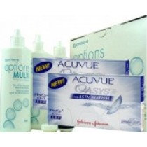 Acuvue Oasys for Astigmatism, 2x 6er-Box + Pflegemittel