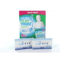Air Optix Aqua, 2x 6er Box + Pflegemittel